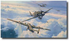 Savage Skies by Robert Taylor - Fw190D - B-24 Liberator - 3 Pilot Signatures
