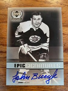 1999-00 Upper Deck Century Legends Epic Signatures #JB JOHNNY BUCYK  AUTO 1999
