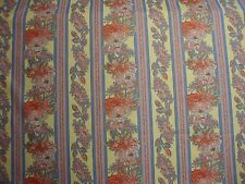 "Texunion "" Cashmere""  1993 Floral Stripe Pink yellow 11 yards French Provincial"