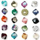 6 Swarovski Crystal 3mm Xilion Faceted Bicone Double Cone Beads With Facets A-K