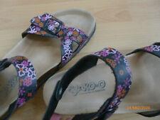 Jako-O Sandalen für girls Gr. 38 schwarz pink geblümt - verstellbare Riemen