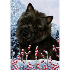 Winter House Flag - Black Cairn Terrier 15327