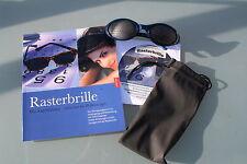 RASTERBRILLE (pinhole glasses)-SET   Sport bifokal +ÜBUNGSBUCH +Übungs-CD +Etui