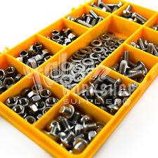 Assortiment de 300 pièces M5 douille bouton tête boulon avec écrous rondelles A2 acier inoxydable kit