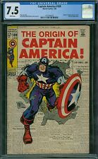 Captain America 109 CGC 7.5 - White Pages