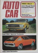 Autocar magazine 23/9/1971 featuring Triumph GT6 road test, Clan Crusader, Audi