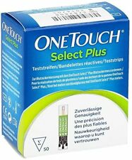 50 One Touch Select Plus strisce reattive diabete test glucosio scadenza:07-2020