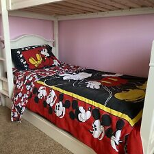 Vintage Disney classic Mickey Mouse twin Bedding and comforter c1990