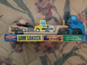 BRAND NEW MELISSA & DOUG LOW LOADER W/CONSTRUCTION VEHICLES