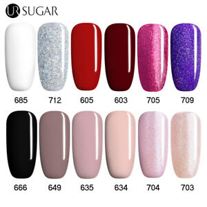 UR SUGAR 7.5ml Nail UV Gel Polish Soak Off Nail Art  UV LED Gel Varnish