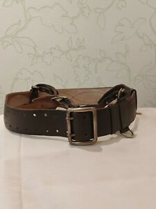 VINTAGE OLD MILITARY RUSSIAN SOVIET OFFICER'S LEATHER BELT 1990
