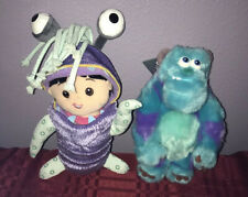 """Disney Parks Monsters Inc Sulley & Boo Plush 9"""" Set New"""