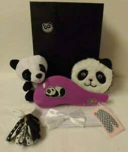 Panda theme gift set - Soft toy, brush, purse, hair accessories in gift bag