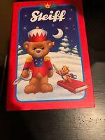 Steiff Christmas Teddy Bear Carlo With Fairytale Book Box Gold Brown 109942 NEW
