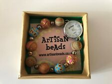 Ladies Artisan Beads watch, White face and Beads strap