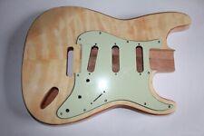 Strat Stratocaster Body Mahagoni quilted maple Top Veneer Wölkchenahorn Gitarre