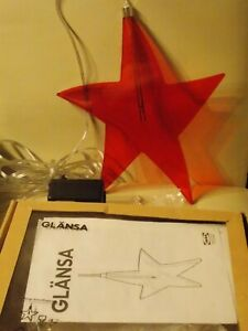 Glänsa Stern Ikea rot top Zustand