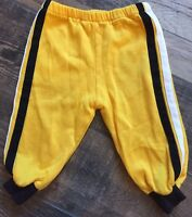 Vintage 80s Baby Infant Sweatpants Black Yellow White