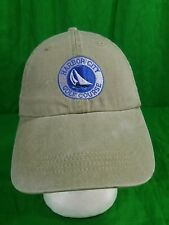 Harbor City Golf Course Dad Hat Distressed Sailboat Strapback Cap