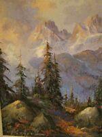 "CARROLL FORSETH OIL ON CANVAS ""KEELER RANGE CANADIAN ROCKIES"" LISTED ARTIST"