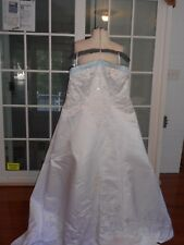 Signature Plus-Style 3333-A-line Weding gown-White/Light Blue- Size 24W- MR23