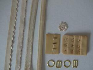 Bh Kurzwarenpaket beige,haut 3,bra findings kit