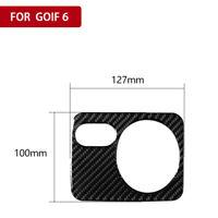 Fit VW Golf 6 GTI R MK6 08-12 RHD Carbon Fiber Headlight Switch Button Sticker