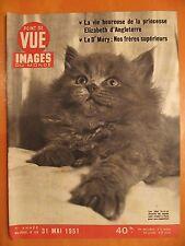 Point de Vue Images N° 156 du 31/5/1951-Princesse Elizabeth d'Angleterre-Chatons