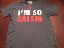 NEW I'M SO SALEM GRAY TECH FIT T-SHIRT SIZE L MA. HALLOWEEN WITCH CITY