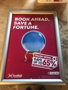 British Rail Mark 3 Coach Internal Scotrail information Board