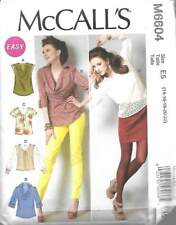 6604 EASY MCCALL'S MISSES' TOPS SIZE 14-22