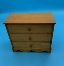 DOLLS' HOUSE MINIATURE - VINTAGE CHEST OF DRAWERS - THREE DRAWERS