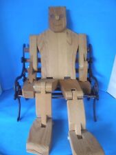 """NEW UNPAINTED HANDMADE WOOD & BOLTS HANDCRAFTED ROBOT MAN TOY 28"""" TALL"""