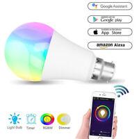 E27/E14/B22/GU10 Wifi Smart LED light Bulb RGB Dimmable for Alexa/Google 11W GO1