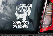 Shih-Tzu - Car Window Sticker -  Chinese Lion Dog on Board Sign - TYP1
