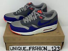 Nike Air Max 1 azul ultramar Oscuro Gris EE. UU. 8.5 Reino Unido 7.5 42 2013 esencial og Rojo Azul