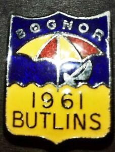 BUTLINS BOGNOR 1961 ENAMEL BADGE PIN BROOCH VINTAGE