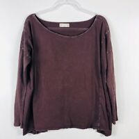 Altar'd State Size Small Oversized Purple Long Sleeve Top Scoop Neck Casual