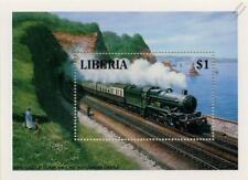Great Western Railway (GWR) KINGSWEAR CASTLE 4-6-0 at DAWLISH Train Stamp Sheet