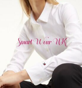 Tommy Hilfiger Ladies Heritage Fitted Shirt (White) RRP £75