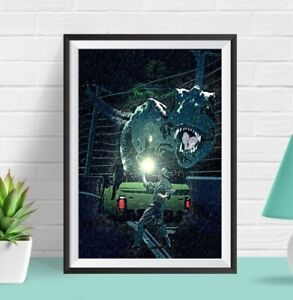 Jurassic Park Film Poster | Dinosaur | Geek | Home Decor | Wall Art | Movie
