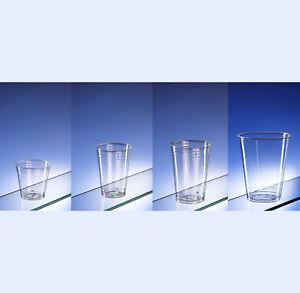 Biodegradable plastic tumblers (various sizes 160ml-630ml) case of 1000