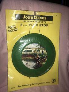 "Vintage John Deere 8 3/8"" Flue Stop Chimney Stove Pipe Turtle Trouble"