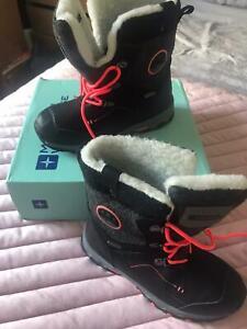 Mountain Warehouse Kid Heavenly Kids Fleece Line Snow Boot Snow Boots - Size 4
