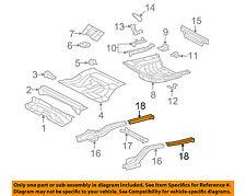 Lexus TOYOTA OEM 11-12 ES350 Floor-REAR BODY-Rail Extension Right 5761533918