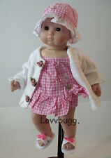 """Swim Suit Robe Sandals Hat  for 15"""" Bitty Baby Doll Lovvbugg Best Selection"""