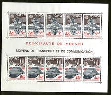 MONACO 1988 EUROPA FEATURING RAILWAY LOCOMOTIVE MINIATURE SHEET MNH