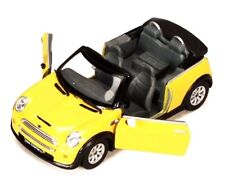 "New 5"" Kinsmart Mini Cooper S Convertible Diecast Model Toy Car 1:28 YELLOW"