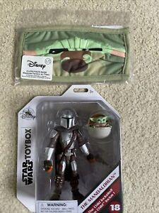 Star Wars Disney Store Toybox MANDALORIAN AND CHILD Grogu Exclusive FREE Mask