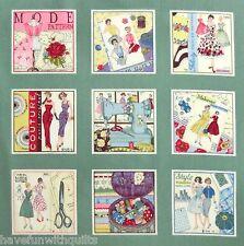 Retro Stoff Frauen Couture Mode Kleider Nähen 50er Jahre Fifties 9 Bilder Panel